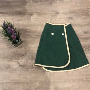 Inside Out Green and Grey Vintage Skirt